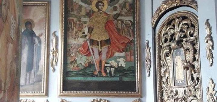 Фрагмент иконостаса Юогоявленской церкви