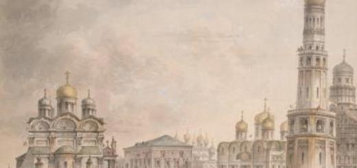 Церкви московского Кремля.